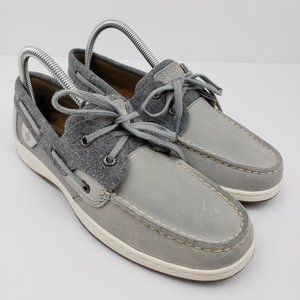 Sperry Bluefish Womens Size 8.5 Gray Wool Shoes